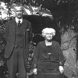 Later photograph of Robert and Amelia Clark