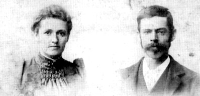 Early photograph of Amelia and Robert Clark