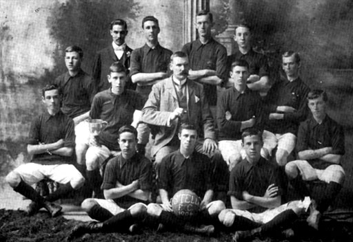 Stella Football Club (Junior Cup Winners 1904) Back Standing: W. Sperryn; H. Dickinson; R. Gavin; C. Hillary Seated (Left to Right): A. Clark; F. Smith; H. Wratten (Captain); R.C. Nutman (President); F. Clark; P. Clark; G. Olsen Seated Front: E. Smith; P. East; B. Smith